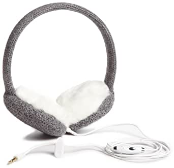 Lobers Women's Solid Headphone Earmuffs, Gray, One Size