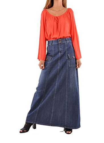 Style J Appealing In Cargo Denim Skirt-Blue-38(18)