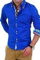 Carisma Hemd Slim Fit Langarmhemd H110 [Blau, L]