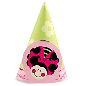 Click to buy LadyBugs: Oh So Sweet Cone Hats (8) Party Suppliesfrom Amazon!