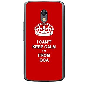 Skin4gadgets I CAN'T KEEP CALM I'm FROM GOA - Colour - Red Phone Skin for MOTOROLA MOTO X PLAY
