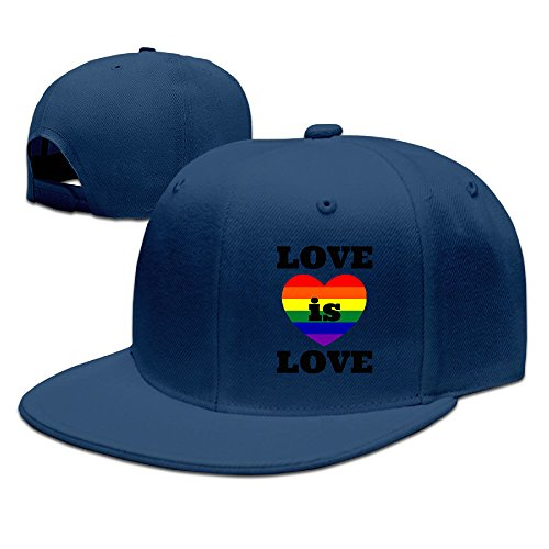 SSEE Unisex Love Is Love Gay Marriage Flat Brim Hip Hop Caps Navy (Tom Clarks Popcorn compare prices)
