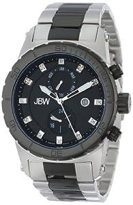 JBW Men's J6285C Multi-Function 12 Diamonds Metal Watch