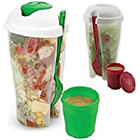 2-Pack Home Basics 3 Piece Salad-To-Go Container Set