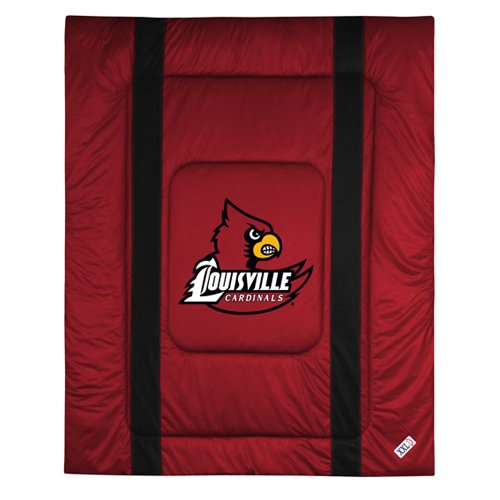 NCAA Louisville Cardinals Sideline Comforter Twin Sports Coverage Comforters autotags B000A378Y8