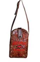 NCAA Arkansas Razorbacks Women's Cross Body Purse, Brass, One Size