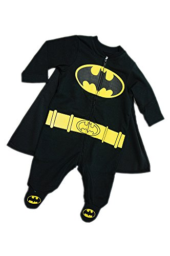 [Newborn Batman Footed Onesie / Costume] (Batman Costumes Infant)