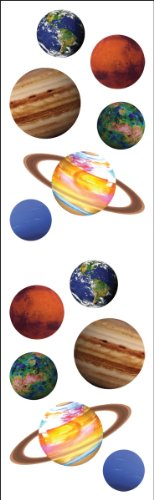 Mrs Grossman MG199-04403 Mrs. Grossmans Stickers-Planets - 1