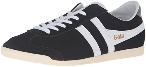 Gola Men's Bullet Suede Fashion Sneaker, Black/White, 8 UK/9 M US