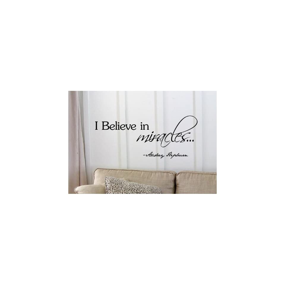 I believe in miracles Audrey Hepburn Vinyl wall art Inspirational quotes and saying home decor decal sticker steamss