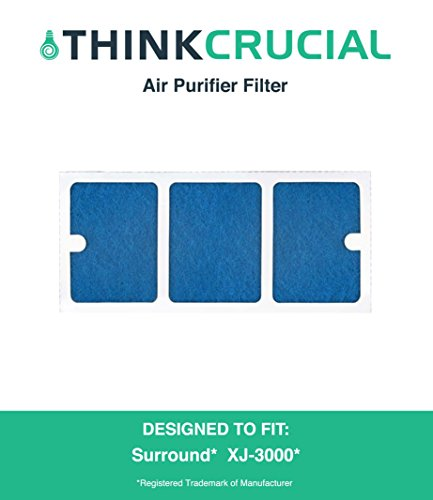 Surround Air Replacement Filter Fits Multi Tech XJ-3000C, XJ-3000D & XJ-3000E Multi Tech Air Purifiers, Designed & Engineered by Crucial Air