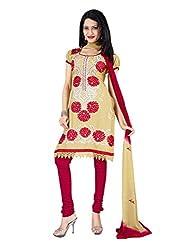 Vatsal Silk Mills Women Cotton Dress Material (Lavika-2105 _Cream)
