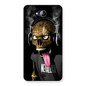 Cute Metal Tounge Back Case Cover for Canvas Play Q355