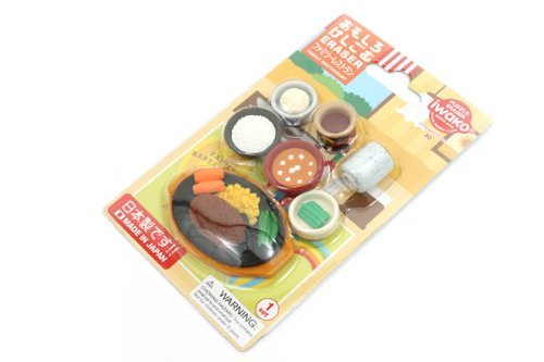Japanese Food Iwako erasers set 7 pieces from Japan