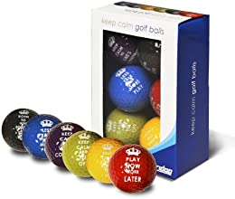 Longridge Keep Calm Balls (Pack of 6) - Multicoloured