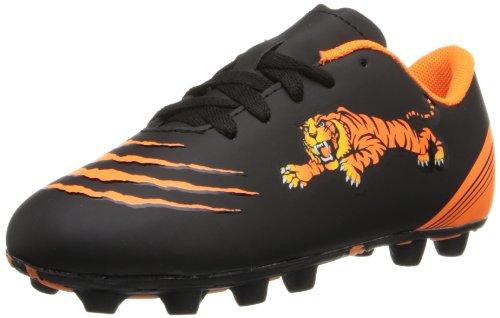Diadora Soccer Trax Tiger Md Jr Soccer Shoe (Toddler/Little Kid/Big Kid),Black/Orange,12 M Us Little Kid front-766700