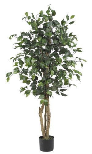 Nearly Natural 5299 Ficus Silk Tree, 4-Feet, Green (Nearly Natural 4 Feet Ficus compare prices)