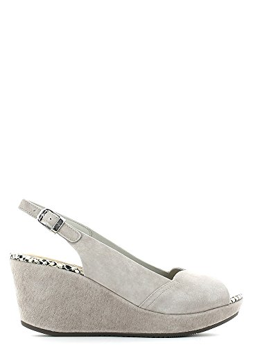 STONEFLY 104375 taupe scarpe donna sandali zeppa pelle cinturino 36
