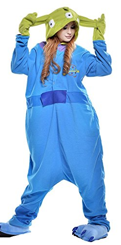 MTARA New Premium Plush Onesie Unisex Cosplay Pajamas Kigurumi Three Eye Monster