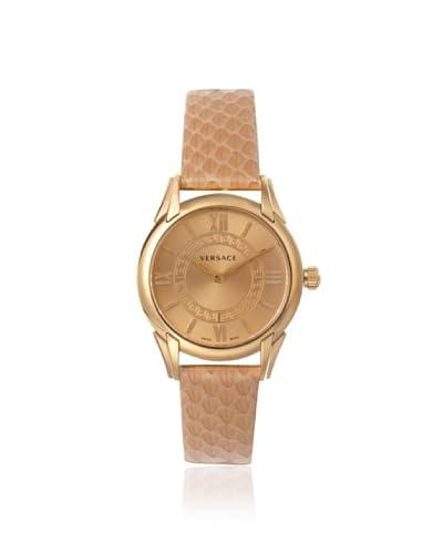 Versace Women's VFF020013 Dafne Round Snakeskin Watch