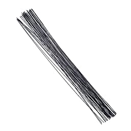 Decora 20 Gauge Black Floral Wire 16 inch,50/Package