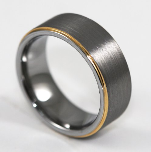 7MM Matte Finish Tungsten Carbide Wedding Band Ring Size 13