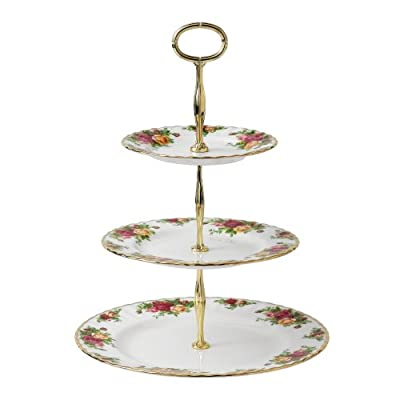 Royal Albert Old Country Roses 3-Tier Cupcake Stand