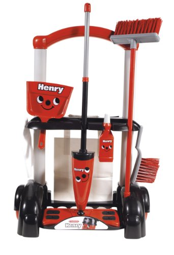 Casdon Henry Cleaning Trolley (Red And Black) (Red Trolley Toy compare prices)