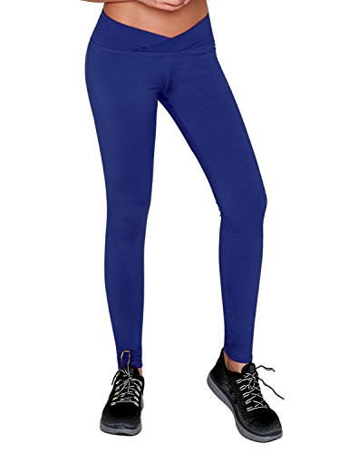 Yoga Reflex Women's Yoga Workout Running Leggings Pants Hidden Pocket (XS-2XL) , Royalblue , X-Small (90 Degree Panel compare prices)