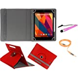 Gadget Decor (TM) PU LEATHER Rotating 360° Flip Case Cover With Stand For MICROMAX CANVAS TAB P480 + Stylus Capacitive...