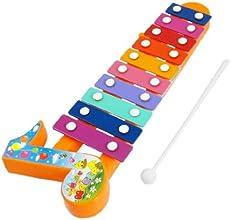 Dcolor Plastic Sticks 10 Tone Music Beat Percussion Toy Multicolor Xylophone