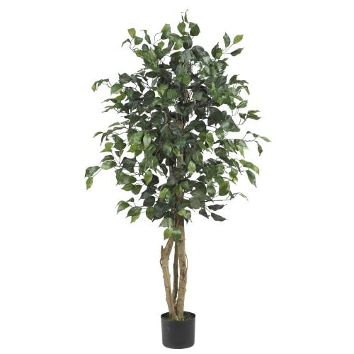 Nearly Natural 5299 Ficus Silk Tree, 4-Feet, Green