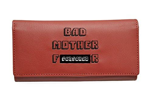 Women Bad Mofo Red Clutch Wallet w/ Jules Id