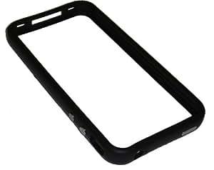 Coque Bumper Pare-chocs Classique Pour iPhone 4 et 4S. Boutons Métalliques. Caoutchouc & Plastique. Noir