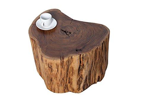 Massiver-Hocker-GOA-Baumstamm-Beistelltisch-aus-Akazie-30-cm-Sitzhocker-Tisch