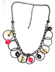 Jewel Plus Metal Ring Small Necklace