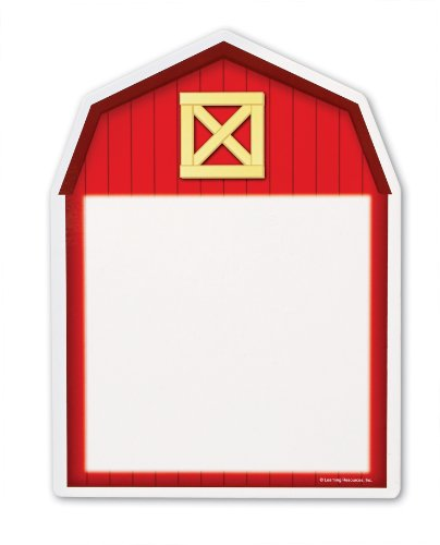 Learning Resources Write and Wipe Boards Barn, Set of 5 - 1