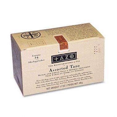 Tazo® Assorted Tea Bags, 24 Tea Bags Per Box