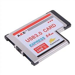HDE 2 Port USB 3.0 54mm Express Card