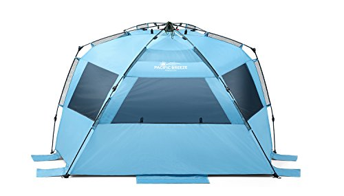 pacific breeze easy up beach tent deluxe xl sporting goods