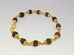 Discount4product Rudraksha brecelet made up with brass & rudraksha beads for men and women