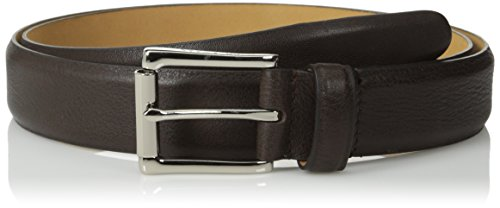 Cole Haan Men's 32 mm Burnished Edge Milled Egyptian Cow Belt, Chocolate, 32 (Cole Haan Belt Brown compare prices)