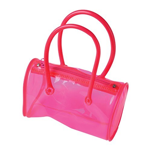 One Play Pretend Clear Pink Mini Child Size Plastic Purse