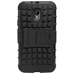 Novo Style Dual Layer Kick Stand Hard Back Case For Motorola Moto G (Gen 3)