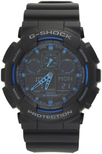 G-Shock Ana-Digi Speed Indicator Black Dial Men's watch #GA100-1A2