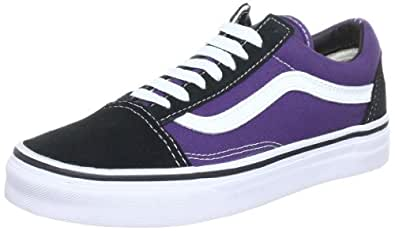 Vans U OLD SCHOOL VSDI814 - Zapatillas de cuero unisex, color multicolor (sweet grape/true white), talla 37