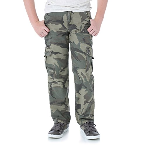 Wrangler Boys cargo pants with adjustable waistband GreenCamo 8