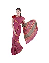 Aaradhya Bagru Hand Block Nep Top Print Cotton Saree For Women - B00TF0DP7Q