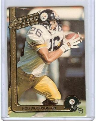 ROD WOODSON 1991 ACTION PACKED #230, PITTSBURG STEELERS