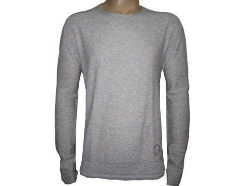 BURBERRY BODY MENS PALE GREY HUGHES JUMPER Size XL 100% CASHMERE (XL)